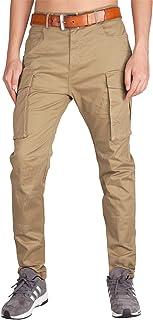 Italy Morn Pantaloni Chino Cargo Tecnico Uomo Elasticizzato Tasche Laterali con Regular Fit