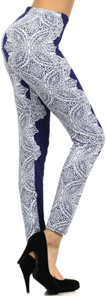 YELETE Al sold out. Lady's Printed Blue Special price Leggings Paisley