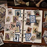 23 Piezas Paquete de Pegatinas de Museo Sello Vintage Plantas Flores Pegatinas de Scrapbooking Juguetes para niños Libro Pegatina Decorativa DIY papelería