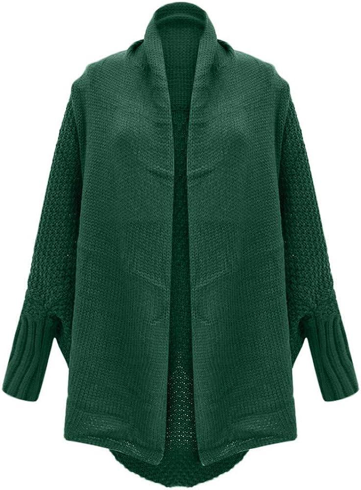 VEKDONE Women Long Sleeve Open Front Sweater Cardigans Lightweight Chunky Knit Draped Sweaters Jackets Outwear