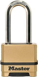 MASTER LOCK Heavy Duty Padlock [Combination] [Zinc] [XLong Shackle] [Outdoor] M175EURDLH - Best Used for Storage Units, Sh...