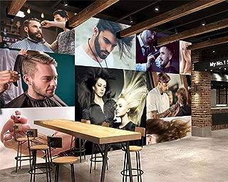 HZDDR 3D Wall Paper Individuality Fashion Charm Hair Salon Barbershop Wallpaper Wall Background 3D wallpaper-120x110cm