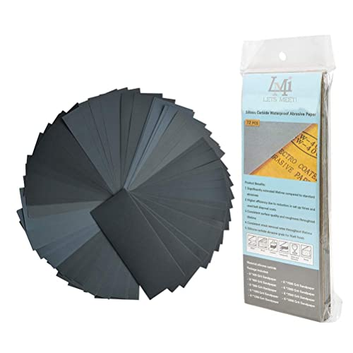 Pack of 25 Wet /& Dry Polishing Paper 120 Grit 230mm x 280mm Furniture and Home Improvement Manual Sanding Perfect for DIY Car Bodywork Repairs Machine