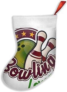 tyui7 Bowling Lorca Medias de Navidad Calcetín Decoración de Regalo Personalizada para Vacaciones de Navidad