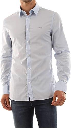 Guess Jeans M91H41-WB2F0-LS-VENICE-SHIRT Chemise Homme