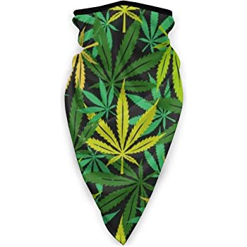 Cannabis Weed Leaf 420 Neck Warmer Tube Biker Balaclava Scarf Face Mask Bandana