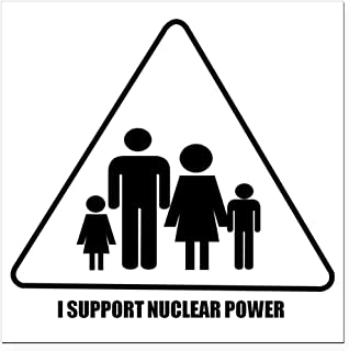 CafePress - Nuclear Power Square Car Magnet 3