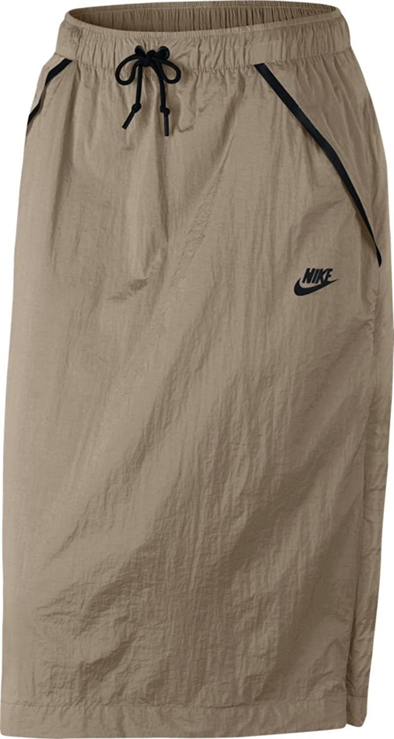 NIKE Women's Tech Hypermesh Sportswear Skirt-Khaki-Large