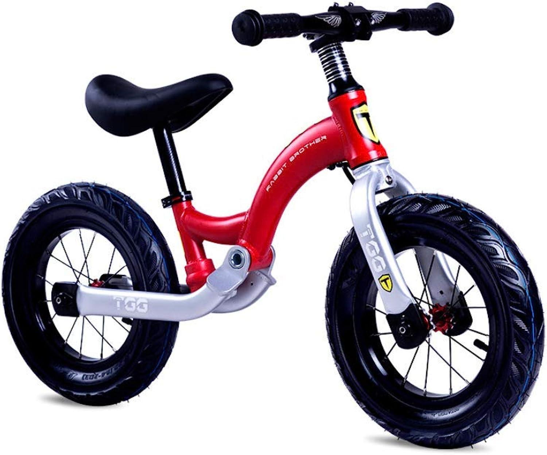 buen precio HYYQG Bicicleta Balance 4 años, Sin Pedal Altura Ajustable Ajustable Ajustable con NeumáTicos Bell Ring Inflables para niñas Niños De 2 A 6 años Bicicleta Push Walking Bicicleta 12 Pulgadas  precios bajos todos los dias