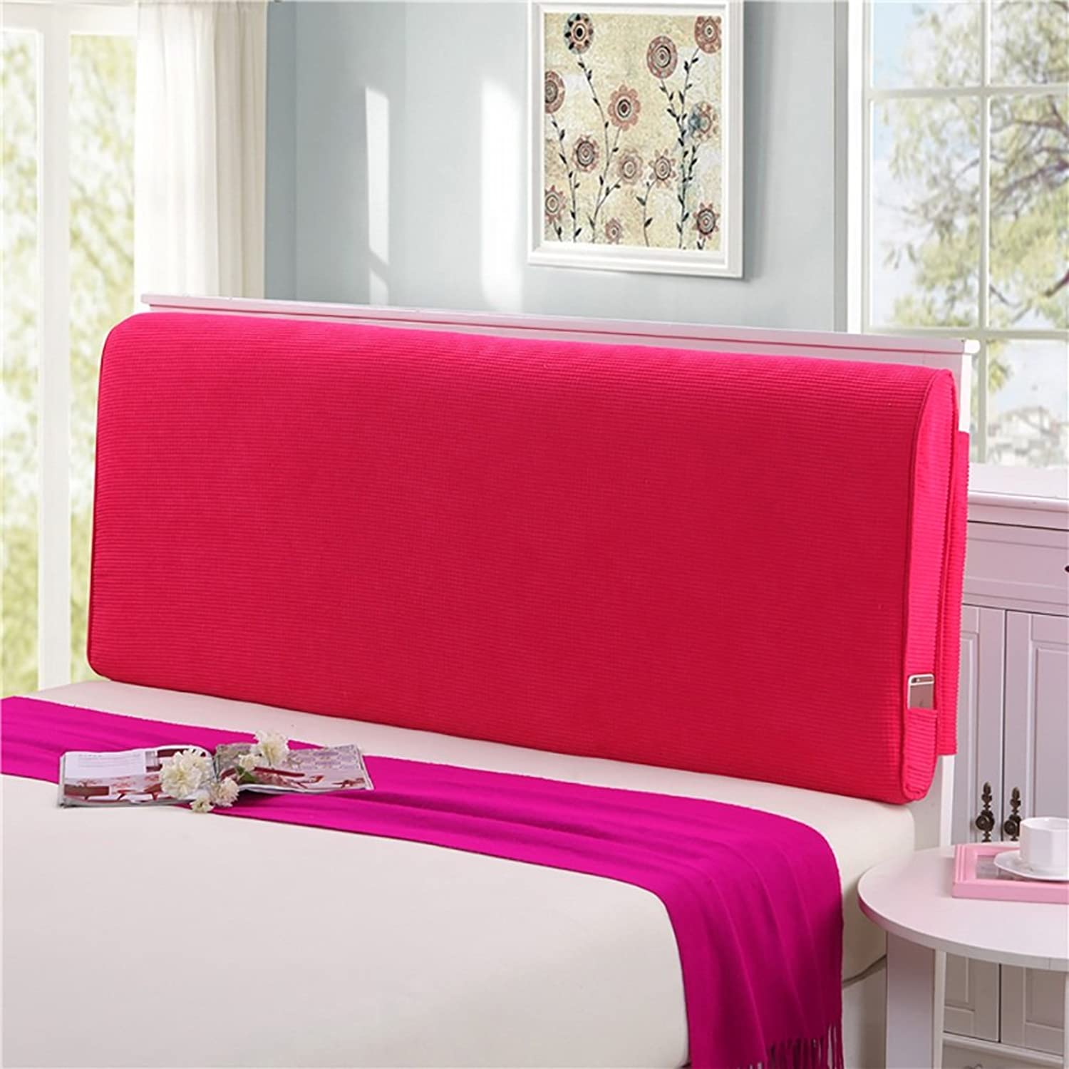 Headboard Bed Backrest Cushion Bed Cushion Bedside Pillow No Headboard Corn Large Soft Pillow Lumbar Support Detachable 9 Solid colors 4