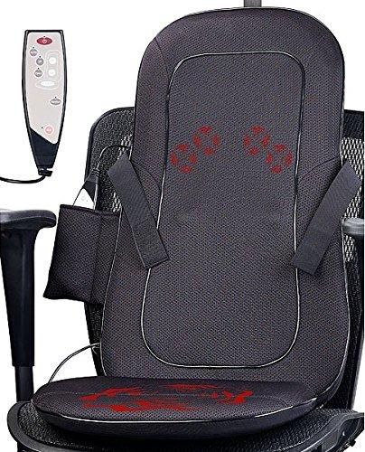 newgen medicals Massagesitzauflage: Shiatsu-Sitzauflage für Rückenmassage, mit IR-Tiefenwärme & Vibration (Rückenmassagegerät)