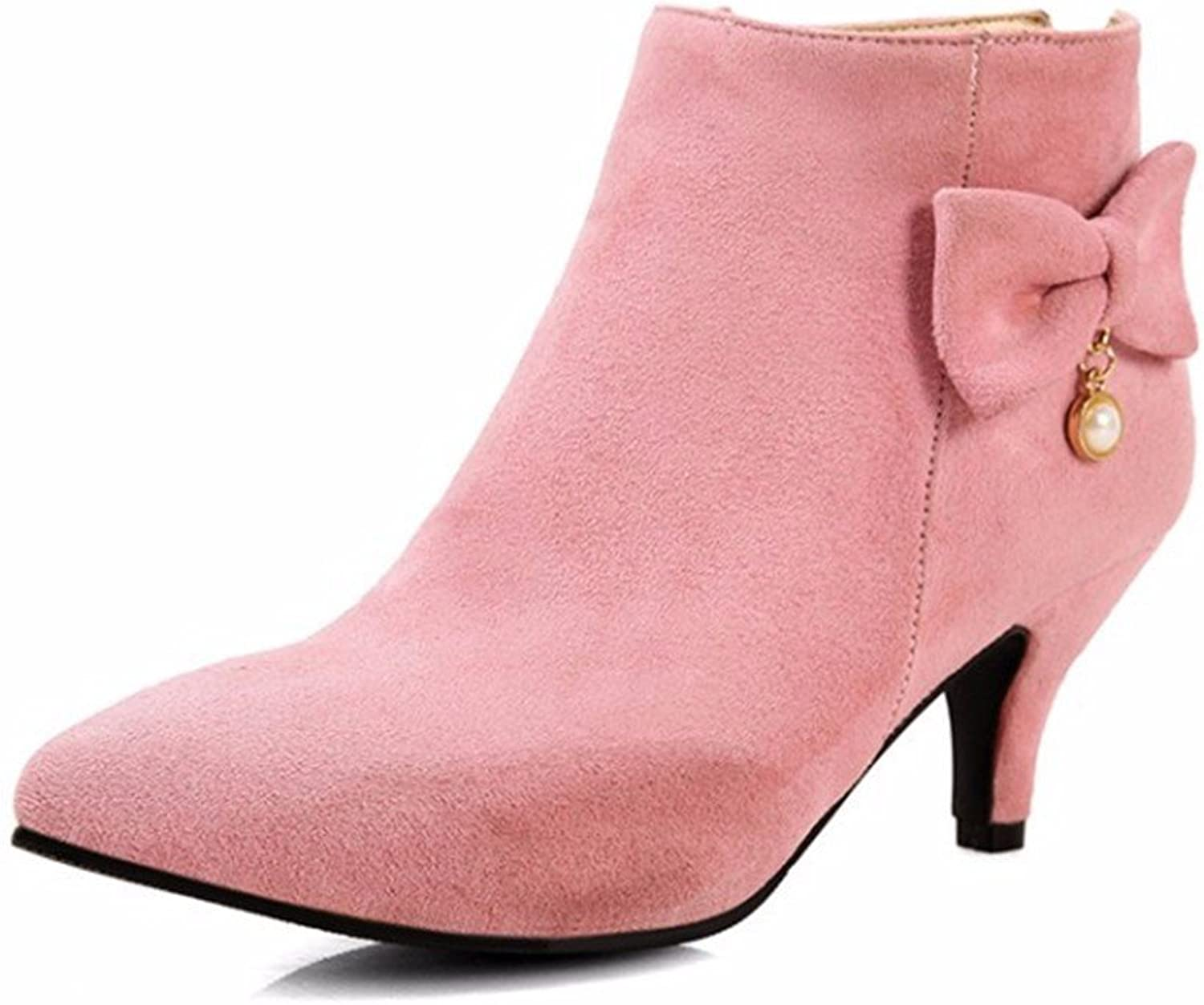 High Heels Boots Suede shoes Size Ladies Pointed in Autumn and Winter