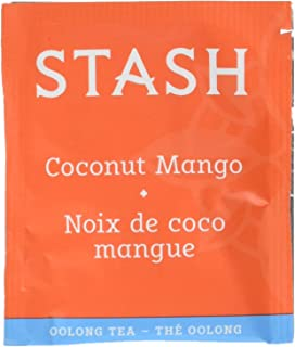 Stash Tea Coconut Mango Wuyi Oolong Tea 100 Count Tea Bags in Foil (packaging may vary) Individual Black Tea Bags for Use ...