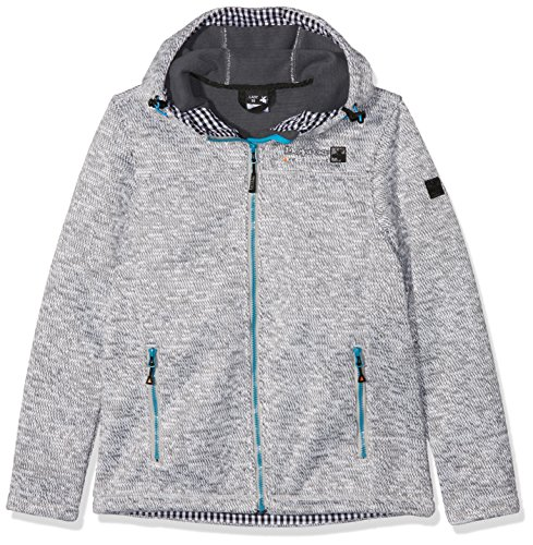 DEPROC-Active Sweater/Strickfleece Jacke WHITEFORD Femme, Gris (Grey-White Mottled), 42