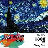 InGooooD -ミニシリーズ-世界ミニのジグソーパズル 1000 絵画 月の下の星空 -パズル 大人 向け