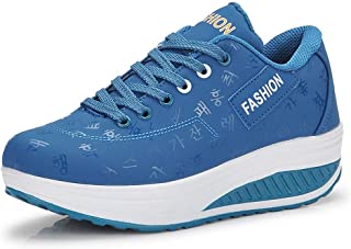 Unparalleled beauty Women's Platform Wedges Walking Sneakers Lace Up Shoes Slip On Sneakers