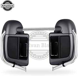 Advanblack Charcoal Denim Lower Vented Fairings Kit Glove Box Fit for Harley Touring Street Glide Road Glide Road King Electra Glide 2014 2015 2016 2017 2018 2019