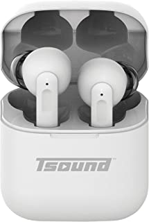 T-Sound Audífonos inalámbricos Elite con cancelación de Ruido, 5.5 Horas de Tiempo de Escucha, Bluetooth 5.0 Control tácti...