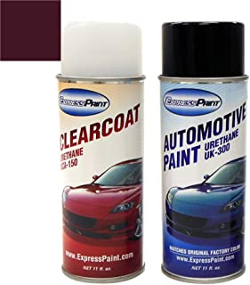 ExpressPaint Aerosol - Automotive Touch-up Paint for Triumph All - Damson (Maroon) 17 - Color + Clearcoat Package