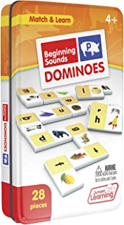 Junior Learning Beginning Sound Dominoes Educational Action Games