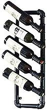 Modern metalen wijnrek Stapelbaar wijnrek Opslag Wijnhouder Decoratief wijnrek - Wandgemonteerd wijnrek, kan 5 flessen rod...