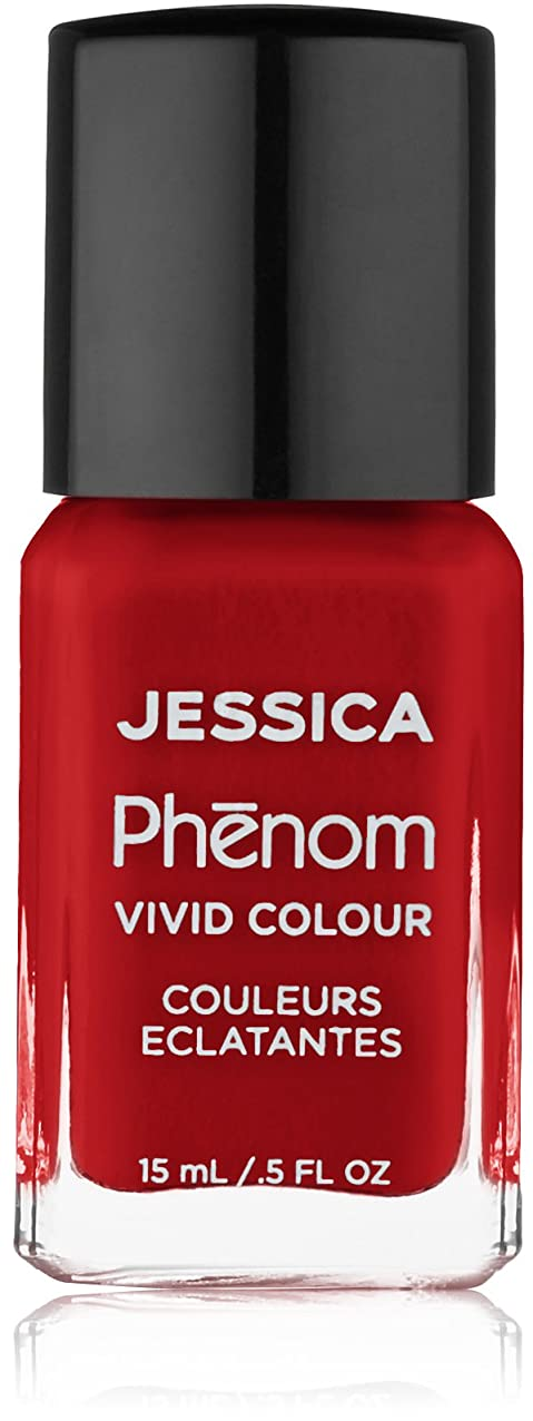 弾薬赤面パンサーJessica Phenom Nail Lacquer - Jessica Red - 15ml/0.5oz