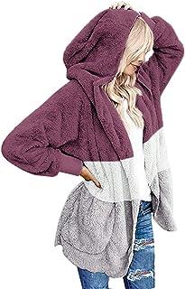 Vestiti Donna Invernali Parka Donna Invernale con Cappuccio Manica Lunga Beikoard Womens Fluffy Sweater Warm Outwear Felpa con Cappuccio Manica Lunga Cappotto Oversize