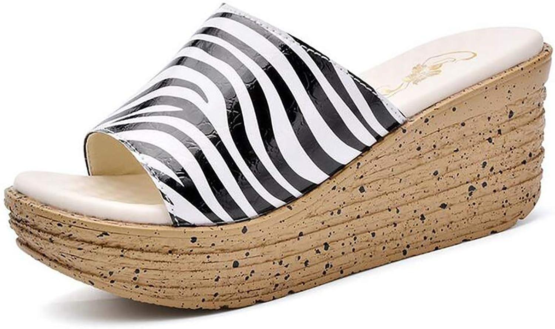 Women's Lightweight Wedge Slippers Summer Fashion Platform Beach High Heel Sandals