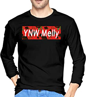 BEN ROSE Mens Classic YNW Melly Long Sleeve T Shirts Black