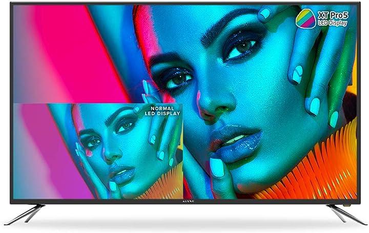 Televisore 50 pollici kiano slim tv[127 cm full hd](dvb-t2, triple tuner, ci+)lettore multimediale tramite usb B07H85GS1W
