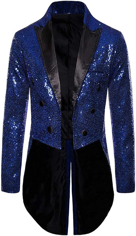 Sequins Shallow Tailed Men Suits 2 PCs (Jacket+Pants) Slim Fit Blazer Wedding Prom Grooms Tuxedo Plus Size