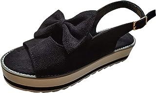 UULIKE Sandales Femmes d été,Compensées Sandales Bout Ouvert Poisson Bouche Loisirs Chaussures,Chaussures Plateforme Wedge...