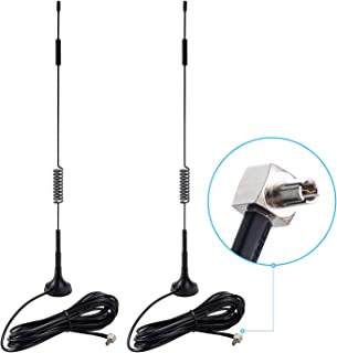 TS9 Connector Antenna, 7dBi High Gain 4G LTE Omni Directional Antenna with Magnetic Base 3m 10FT Extension Cable(2 Pack) for Verizon, AT&T Verizon Jetpack MiFi Router AirCard