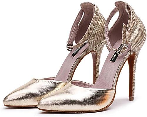 FEFEFEF Sandales Femmes Nouveaux Talons Hauts a souligné souligné 41 42 43 Chaussures de Grande Taille Chaussures à Talons Hauts  100% livraison gratuite