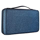 Extra Large Essential Oils Storage Case for 112 Bottles, Carrying Organizer Holder for Young Living, Plant Therapy & Doterra Containers - Fits 5,10 & 15 ml (Shining Blue)