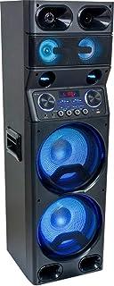 Ibiza TS450 Système de sonorisation avec Bluetooth USB SD LED et télécommande Event DJ Scène Enceinte Musique