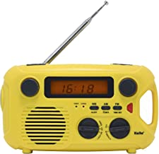 Kaito Emergency Radio KA580 Digital Solar Dynamo Crank Wind Up AM/FM & NOAA Weather Radio Receiver with Real-time Alert, MP3 Player & Phone Charger (Yellow)