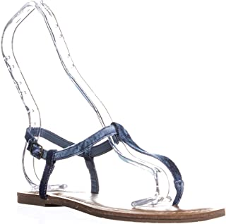 American Rag Womens Akrista Round Toe Casual T-Strap Sandals Gold