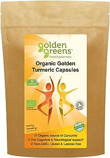 Golden Greens Organic Golden Turmeric Capsules 60 x 400mg