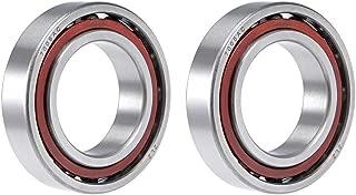 uxcell 7008AC Angular Contact Ball Bearing 40x68x15mm, Single Row, Open, 25° Contact Angle 2pcs