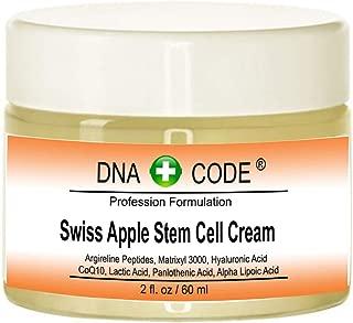 DNA Code- Swiss Apple Stem Cell Cream w/Argireline, Matrixyl 3000, Hyaluronic Acid, CoQ10. Big 2 OZ or 4 OZ