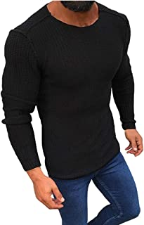 Stoota Men's Casual Slim Fit Crewneck Sweaters, Autumn Classic Soft Warm Long Sleeve Knitting Pullover Blouse S-3XL