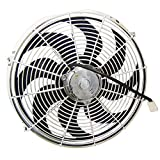 Zirgo 10215 Chrome 14' 2122 fCFM High Performance Blu Cooling Fan