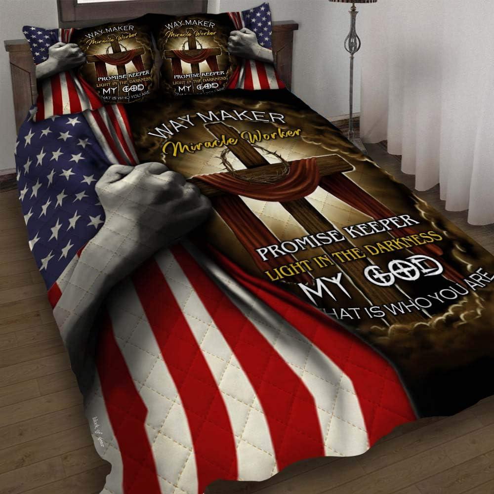 GEEMBI Quilt Bedding Set-Jesus Cross store Worker Way Opening large release sale Maker ? Miracle