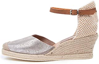 diana ferrari Talori Grey&Silver Lthr Grey&Silver Womens Shoes Espadrilles High Heels