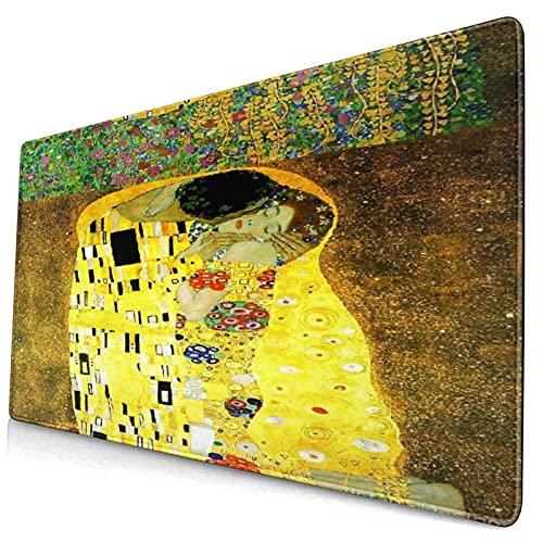HASENCIV Alfombrilla de Ratón,Klimt inspiró la Pintura Batik de Arte Abstracto en los terrenos del diseño de Gustav Klimt,Mouse Pad - Precisión y Velocidad