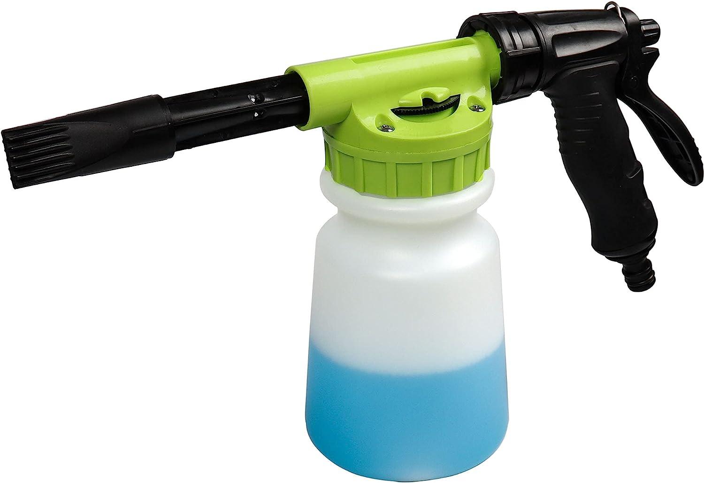 YunGuoGuo Foam Cannon for Garden Hose,Adjustment Ratio Dial Foam Gun,Car Wash Soap Spray Foamer Green