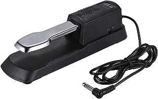Pedal universal de sustain de piano Pedal apagador de pie de teclado con conector de 6.35 mm para Casio Yamaha Roland Organizador electrónico de teclados MIDI Pianos digitales