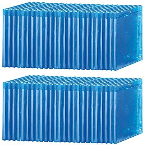 Unbekannt Pearl Blu-ray Soft-Hüllen blau-transparent im 50er-Pack für je 1 Disc