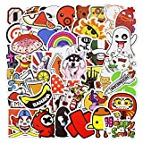 Laptop Stickers, Water Bottle Stickers for Laptop Water Bottles Hydro flask Car Bumper Skateboard Guitar Luggage Waterproof Vinyl Decals Cool Graffiti Stickers Pack (50 Pcs Cartoon Series B Stickers)